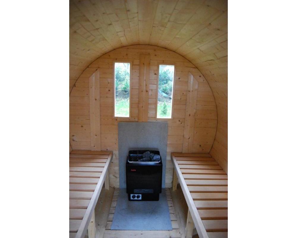 barrel sauna 250cm lengte voor 2 4 personen past in bijna iedere tuin lignum buitenleven. Black Bedroom Furniture Sets. Home Design Ideas
