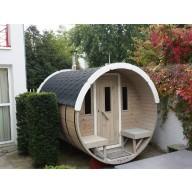 Barrel sauna 350cm lengte 220Ø