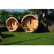Barrel sauna 300cm lengte thermo wood 220Ø