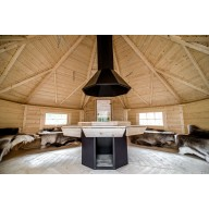 Finse grillkota 16.5 m2 met sauna in uitbouw