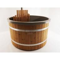 Hottub Premium 160cm Ø, interne kachel, houten bekleding