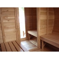 Barrel sauna 350cm lengte thermo wood 190Ø