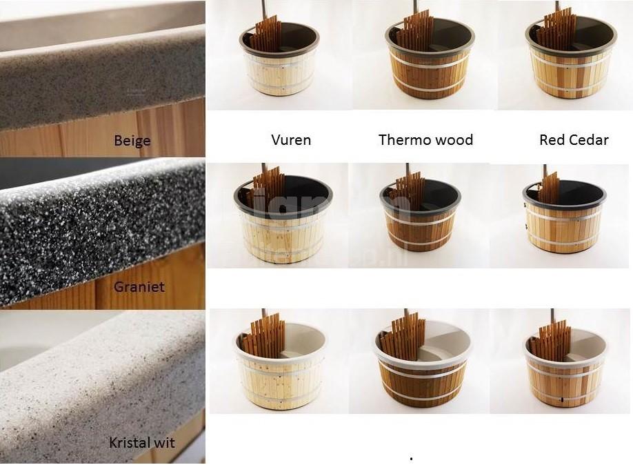 combinaties kunststof kleuren met houtsoorten