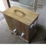 filter in houten bekisting