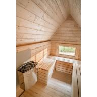 Finse grill kota 9.2 m2 met sauna in uitbouw