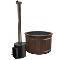 Hottub premium woody 160cm Ø, externe kachel 55 Kw