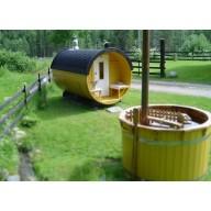 Barrel sauna 300cm lengte thermo wood