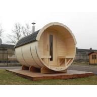 Barrel sauna 350cm lengte 190Ø