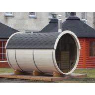 Barrel sauna 350cm lengte thermo wood 220Ø