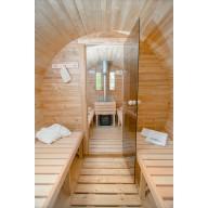 Barrel sauna 400cm lengte thermo wood 220Ø